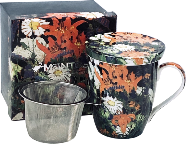 Tom Thomson: Marguerites Tea Mug with Infuser and Lid