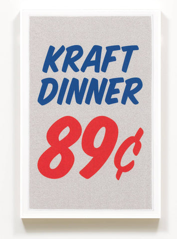 Douglas Coupland Print on Poly-cotton 'Kraft Dinner'