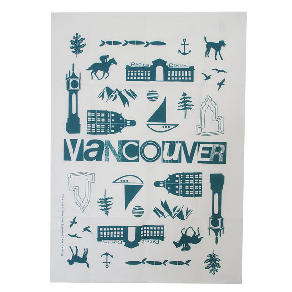 Vancouver City Tea Towel