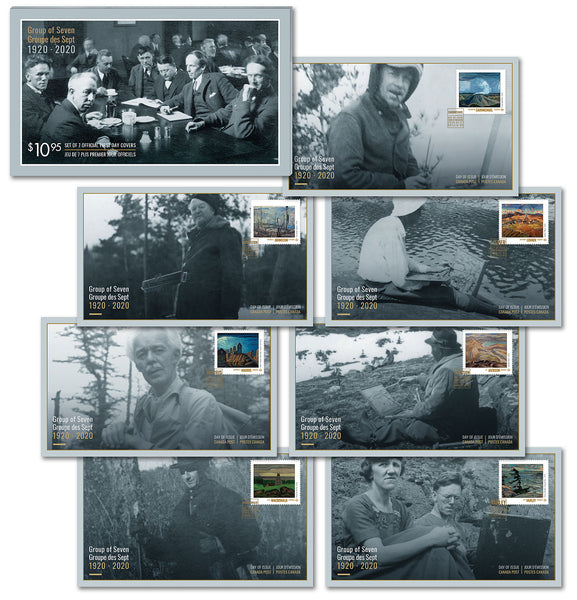 Group of Seven: Official First Day Covers - Set of 7