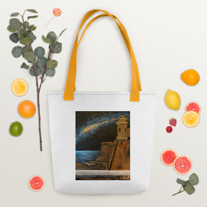 The Milky Way Over El Viejo San Juan Tote bag