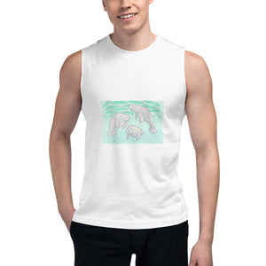 The 3 Manatees Unisex Muscle Shirt