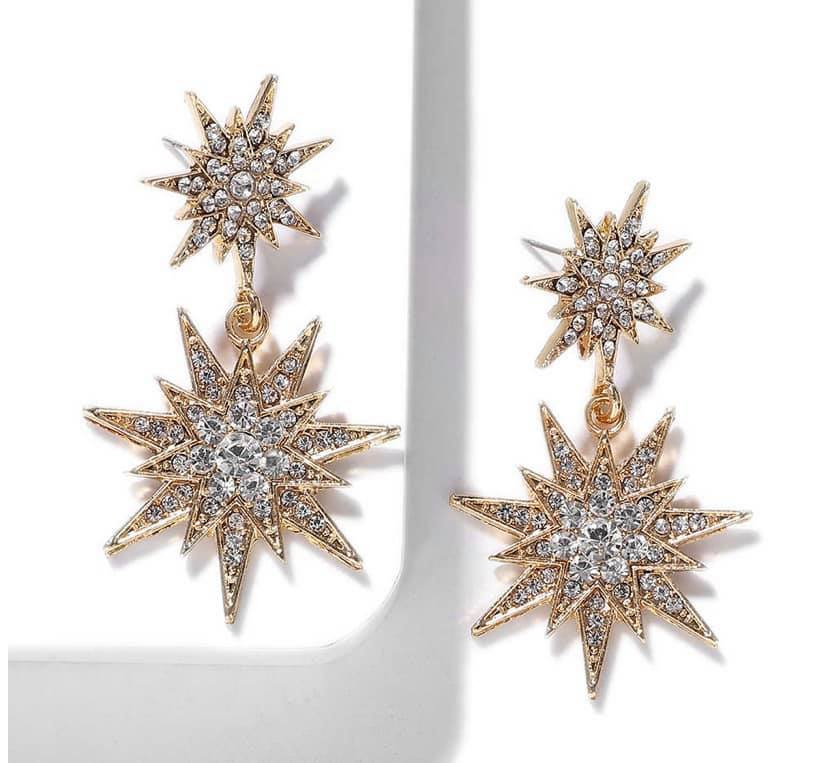 Celeste Star Diamonte Earrings