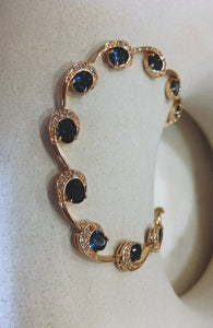 Blue Diamond Onde Bracelet