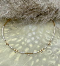 Load image into Gallery viewer, Handmade beaded diamanté drop choker