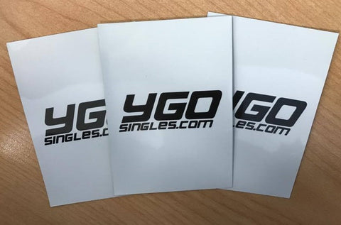 YGO singles.com sleeves - WHITE 60ct.