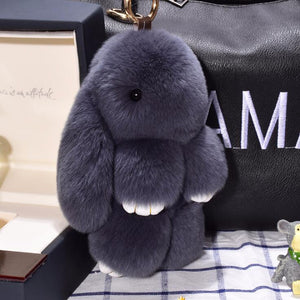 Cute Fluffy Bunny Key-ring - fluffyfindings