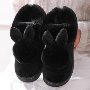 Thick Fluffy winter bunny slippers - fluffyfindings