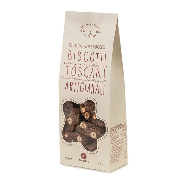 Tuscan Biscuits with Dark Chocolate & Hazelnuts / 250g.