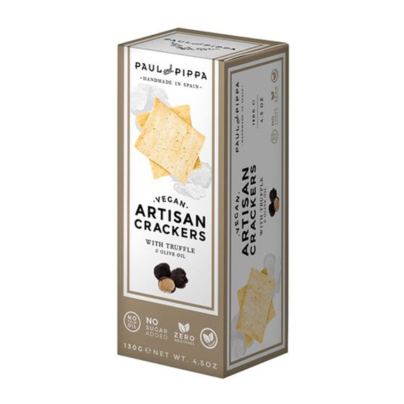 Crackers with Truffle & Extra Virgin Olive Oil / 130g. / Paul & Pippa