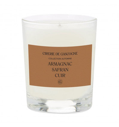 Armagnac, Saffron & Leather / Scented Candle / 180g.