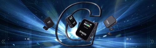 SYNCO G Series Wireless Lavalier Microphone at 2.4GHz Band