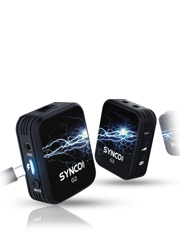 SYNCO G2(A2) 3-in-1 Quick Charging Supports Each Continued Recording