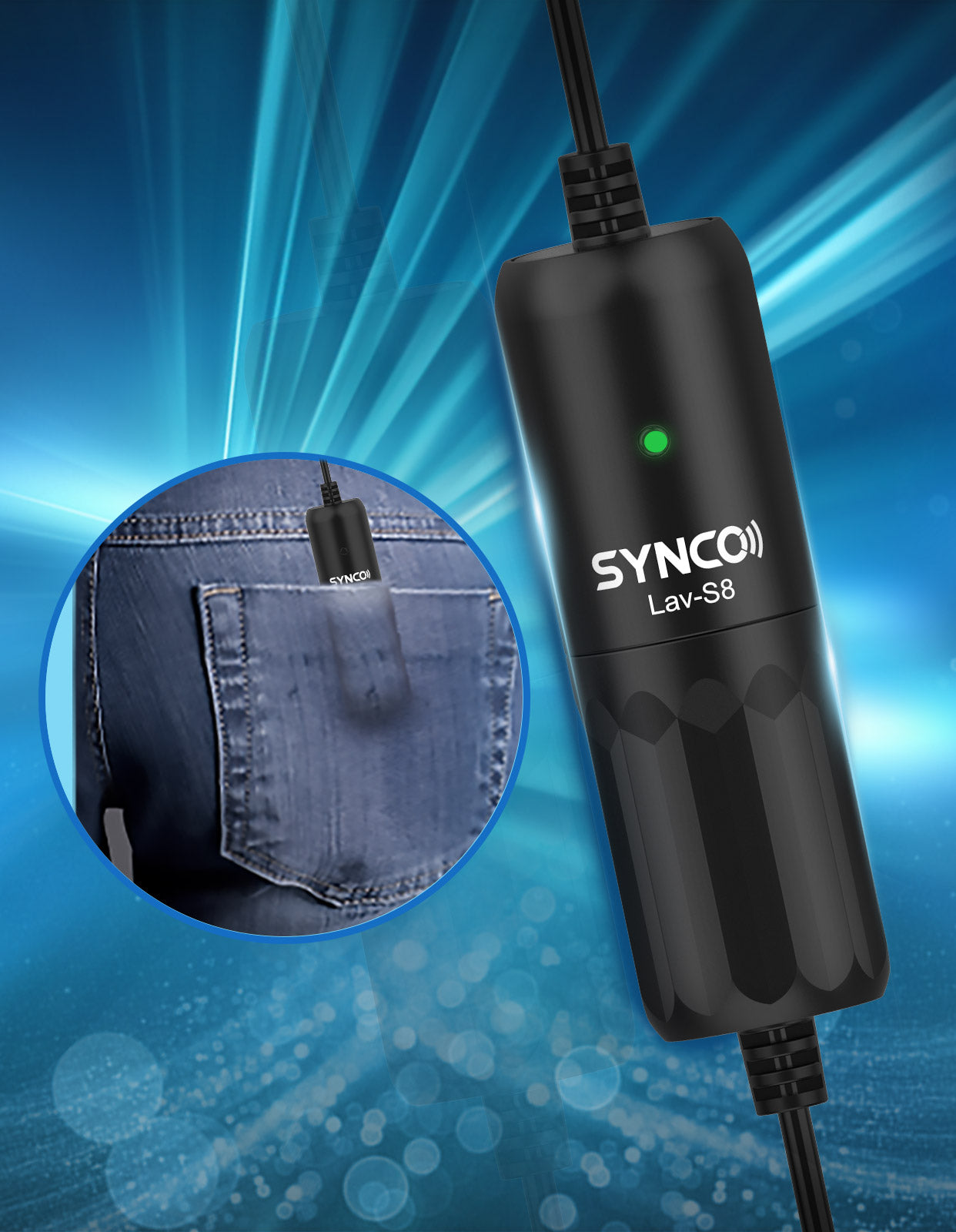 SYNCO Lav-S8 Lined Plastic Construction