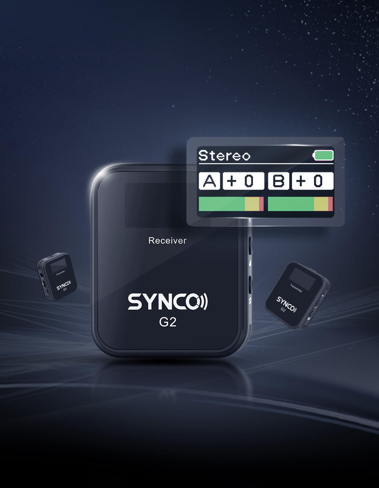 SYNCO G2(A2) New TFT Display & One More Transmitter Make Well-deserved Plus