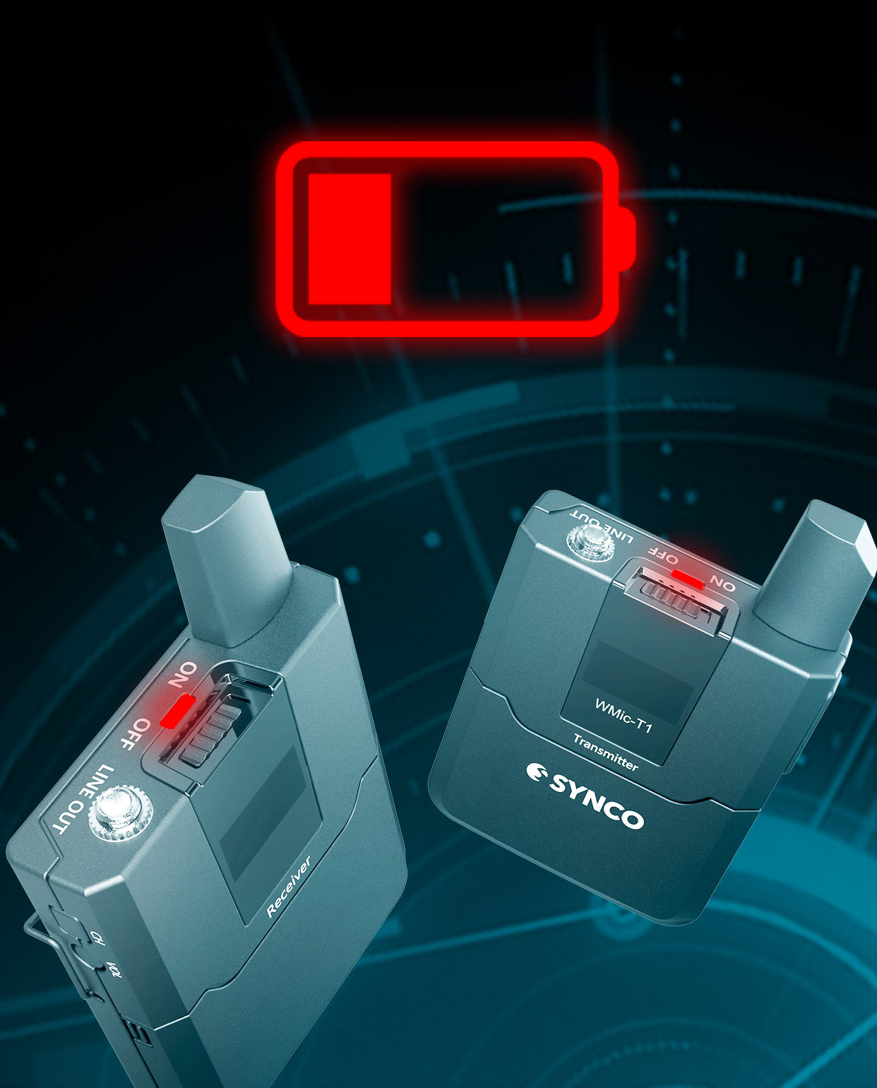 SYNCO WMic-T1 Low Battery Warning