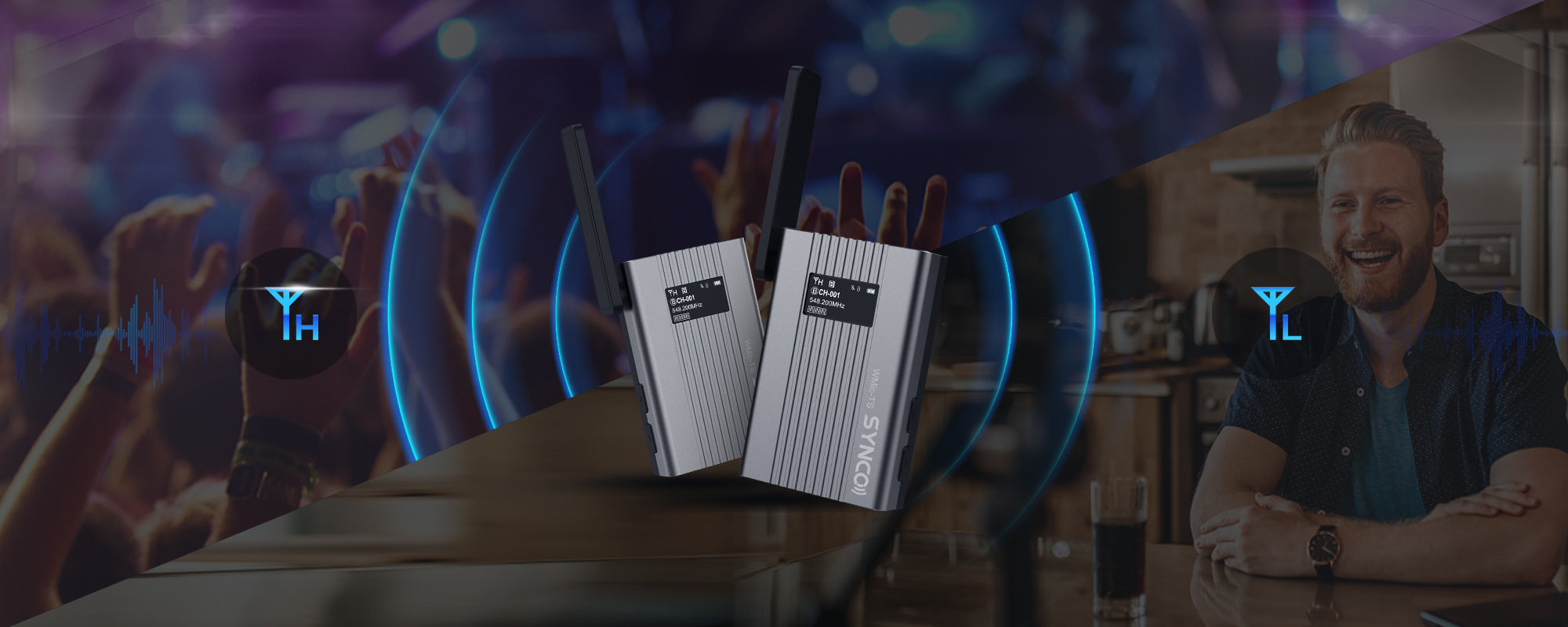 SYNCO WMic-TS Selectable Output Power for Specific Conditions