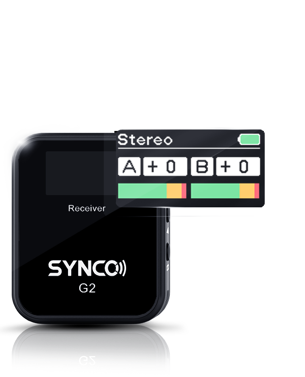 SYNCO G2(A2) New TFT Display & One More Transmitter Make G2(A2) a Well-deserved Plus