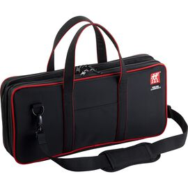 two compartment zippered knife bag holds 12 knives