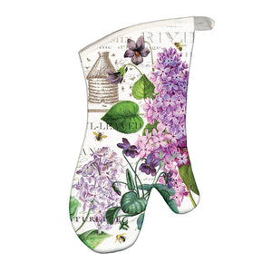 "Michel Design Works ""Lilacs and Violets"" Oven Mitt"