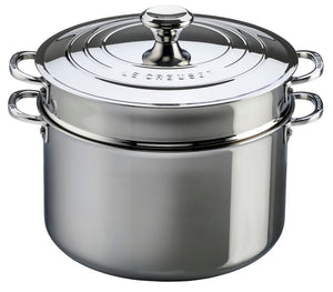 Le Creuset Stainless Steel Stockpot with Pasta Insert