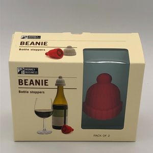 Beanie shaped bottle stoppers