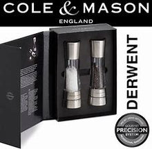 "Load image into Gallery viewer, Cole and Mason 'Derwent"" Salt and Pepper Mill Set"