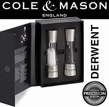 "Cole and Mason 'Derwent"" Salt and Pepper Mill Set"
