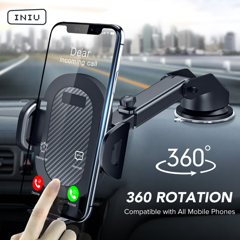 INIU Sucker Car Phone Holder Mobile Phone Holder Stand in Car No Magnetic GPS Mount Support For iPhone 11 Pro Xiaomi Samsung - BrandsMafia LLC.
