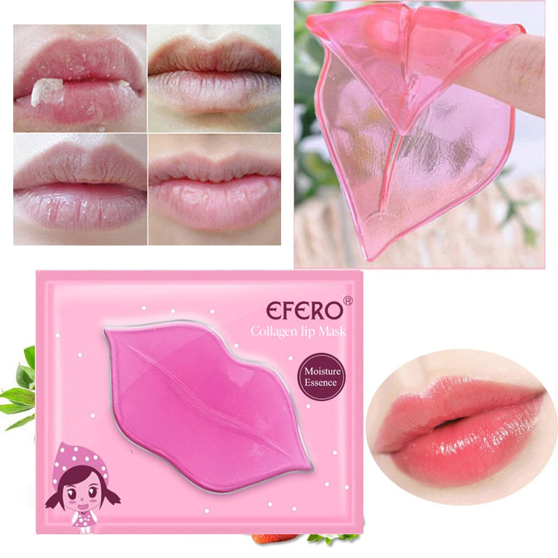 EFERO 1PC Lip Gel Mask Hydrating Repair Remove Lines Blemishes Lighten Lip Line Collagen Mask Lip Color To Moisturize TSLM2