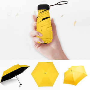 Pocket Mini Umbrella Rain Women Windproof Durable 5 Folding Sun Umbrellas Portable Sunscreen Female Parasol Umbrella - BrandsMafia LLC.