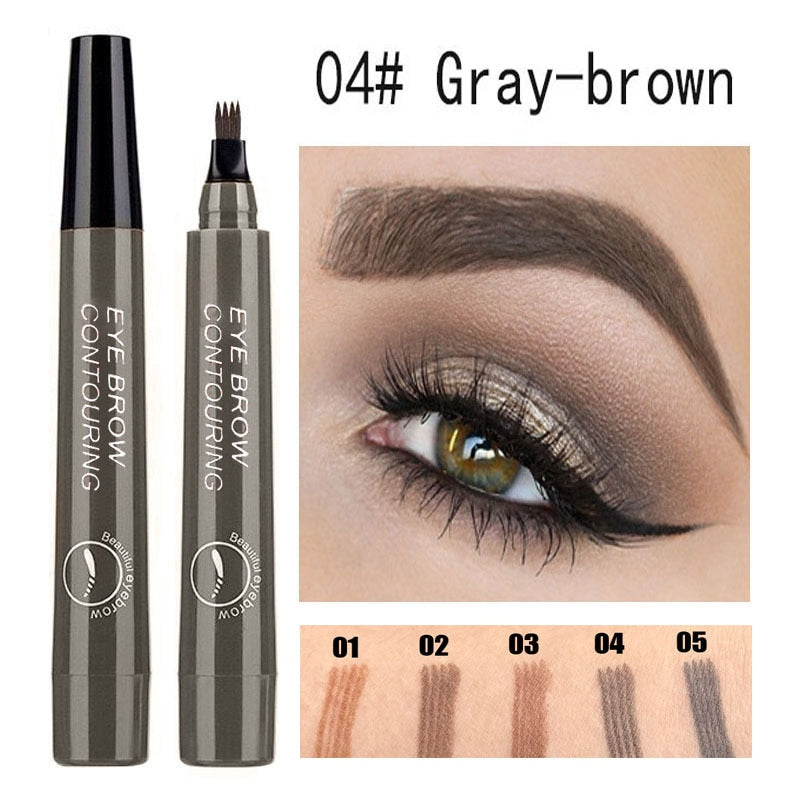 Waterproof Natural Eyebrow Pen Four-claw Eye Brow Tint Fork Tip Eyebrow Tattoo Pencil Long Lasting Easy to use Cosmetics TSLM1 - BrandsMafia LLC.