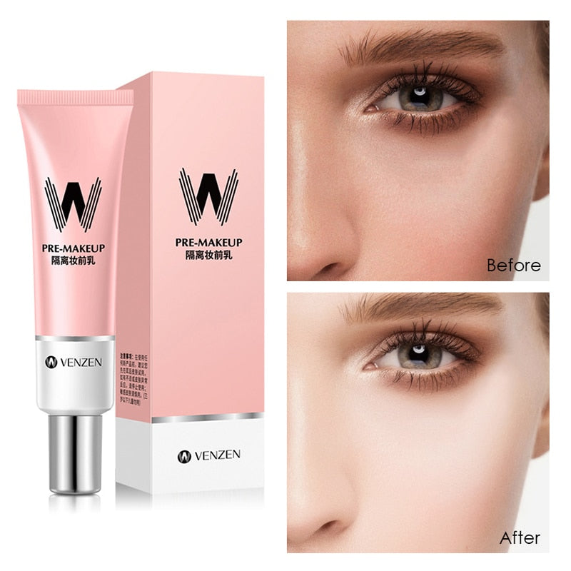 VENZEN Hydrating Bottoming Cream Isolation Makeup Pre-milk Base Concealer Cream Invisible Pore Cosmetics Primer TSLM1