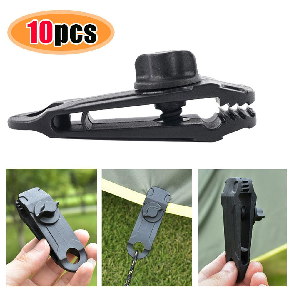 10Pcs Tent Awning Canopy Clamp Tarp Clip Snap Canvas Anchor Gripper Jaw Grip Trap Tighten  Tools - BrandsMafia LLC.