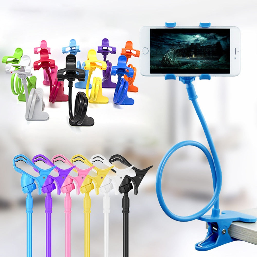 Universal Phone Holder Flexible 360 Clip Mobile Cell Phone Holder Lazy Bed Desktop Bracket Mount Stand Stand Base bracket