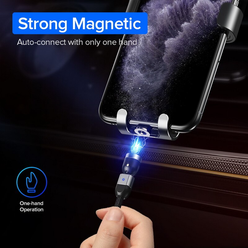 Magnetic iphone charging cable
