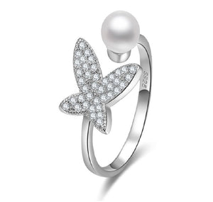 Anillo Butterfly Perl
