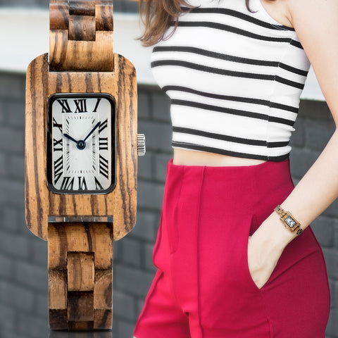 NEW Bamboo Zebra Quartz Watch - Urban Fashion Store