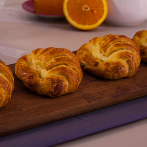 Croissant with orange blossom chamomile glaze