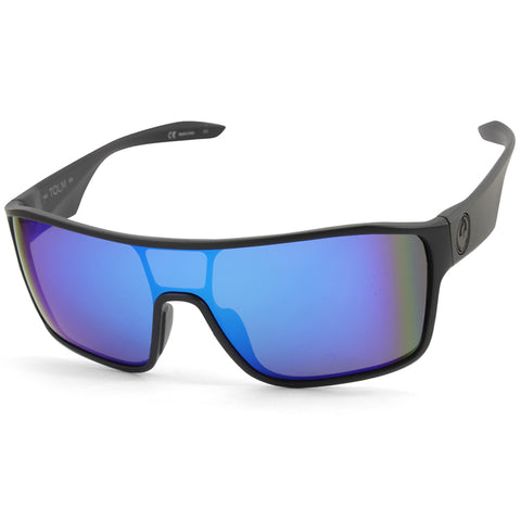 Dragon Tolm 39643-040 Matte Black/Blue Ion Mirror Men's Shield Sunglasses