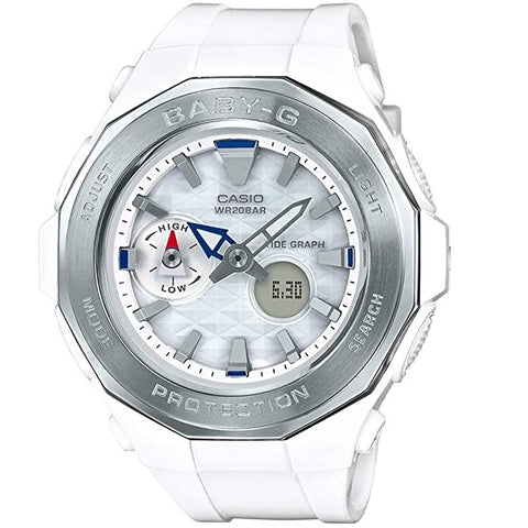 Casio Baby-G BGA-225-7A White & Silver Women's 200m Analog-Digital Sports Watch