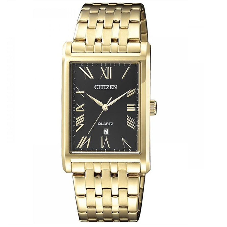 Citizen BH3002-54E Black Dial Gold Men's Quartz Analog Dress Watch