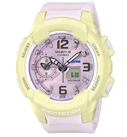 Casio Baby-G BGA-230PC-9B Light Purple & Yellow Women's 100m Sports Watch
