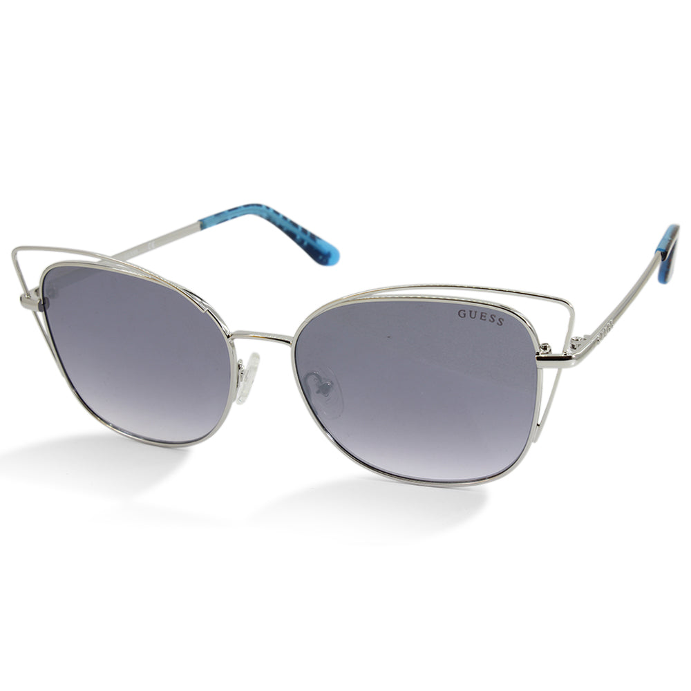 Guess GU7528 10X Silver/Flat Grey Gradient Women's Designer Sunglasses