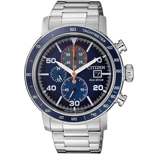 Citizen Eco Drive CA0640-86L Blue Dial Stainless Steel Men's Chronograph Solar Watch