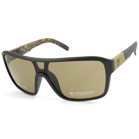 Dragon The Jam Remix LL 42000-019 Matte Black/Brown Men's Shield Sunglasses