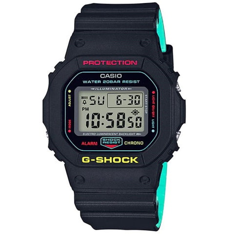 Casio G-Shock DW-5600CMB-1 Black on Green Men's 200m Digital Sports Watch