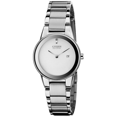 Citizen Axiom Eco-Drive GA1050-51A Silver Dial Solar Womens Watch
