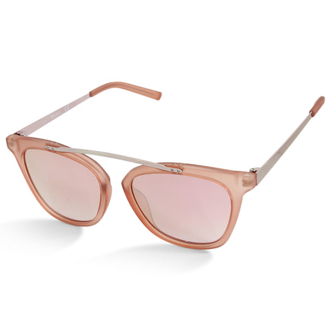 G By Guess GG1154 73U Transparent Pink Mirror Women's Designer Sunglasses
