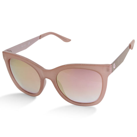 G By Guess GG1155 73U Transparent Pink Mirror Women's Designer Sunglasses